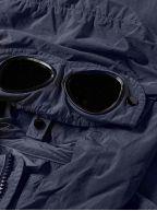 Navy Blue Nylon Goggle Jacket