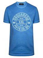 Blue Circle Logo Print T-Shirt