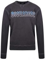Grey & Blue Logo Crew Neck Sweatshirt