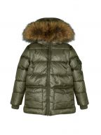 Authentic Fur Down Filled Sage Jacket