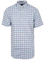 Cornet Blue Check Short-Sleeve Shirt