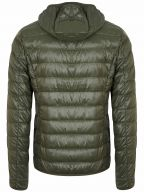 Green Down Filled Lightweight Slim Fit Jacket