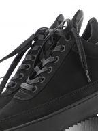 Black Low Top Ripple Tonal Sneaker