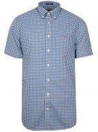 Yale Blue Check Regular Short-Sleeve Shirt