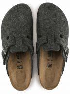Grey Felt Boston Slip On Sandals