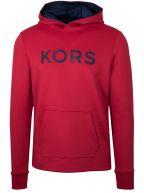 Red Polyester Hooded Sweatshirt