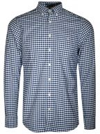 Persian Blue Gingham Oxford Regular Shirt