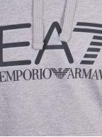 Grey Print Logo Hooded Sweatshirt