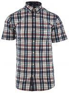 Blue & Red Short Sleeve Multi Check Shirt