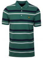 Alpine Green Striped Polo Shirt