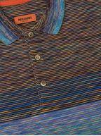 Striped Multi-Colour Long Sleeve Polo Shirt