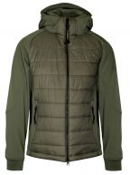 Sage Green Soft Shell Quilted Goggle Jacket