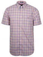 Coral Check Short-Sleeve Shirt