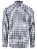 Blue Regular Fit Long Sleeve Chequered Shirt