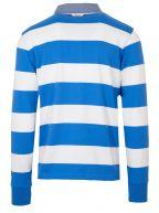Eggshell Blue Barstripe Rugby Polo Shirt