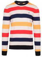 Multicoloured Knitted Cotton Jumper