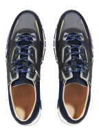Navy & Grey Suede, Leather & Mesh Runner