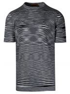 Black & White Space-Dyed Stripe T-Shirt