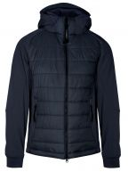 Navy Soft Shell Quilted Goggle Jacket