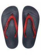 Red Rubber Flip Flops