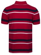 Red Striped Polo Shirt