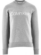 Grey Cotton Logo Sweatshirt