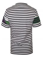 Patchwork Striped White T-Shirt