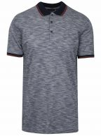 Navy Pattern Polo Shirt