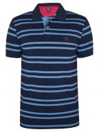 Persian Blue Striped Polo Shirt