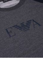 Grey & Navy Eagle Crew Neck Sweatshirt