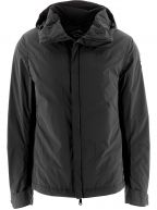 Black High Density Windbreaker Jacket