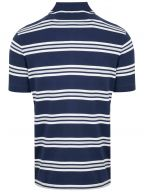 Navy Blue 3-Stripe Polo Shirt