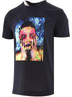 Graphite Blue Go Away T Shirt   Designed by Giuliano Bekor