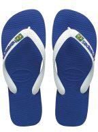 Marine Blue Brasil Logo Flip Flops