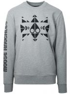 Grey Trippy Logo Crew Sweatshirt
