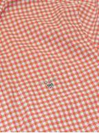 Coral Check Regular Short-Sleeve Shirt
