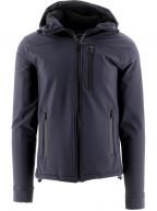 Navy Soft Shell Hooded Jacket