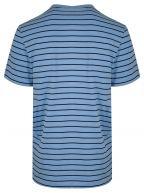 Pale Blue Striped Crew Neck T-Shirt