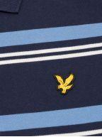 Navy Blue Striped Polo Shirt
