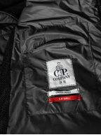 Black Soft Shell Quilted Goggle Jacket
