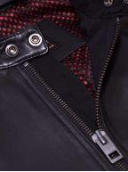 Black Jagson5 Leather Biker Jacket