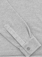 Grey Long Sleeve Polo Shirt