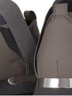 Elasticated Dark Grey Knit Sneaker