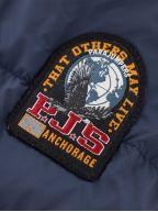 Navy Last Minute Hooded Down Jacket