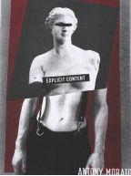 Crew Neck White Explicit Content Print Logo T-Shirt