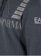 Dark Grey Print Logo Hooded Sweatshirt