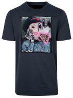Midnight Blue Jaguar Pizza T-Shirt