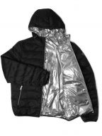 Down Filled Black & Silver Reversible Jacket