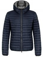 Navy Lightweight Down Hooded Jacket