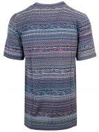 Mixed Pattern Multi-Colour Knit T-Shirt